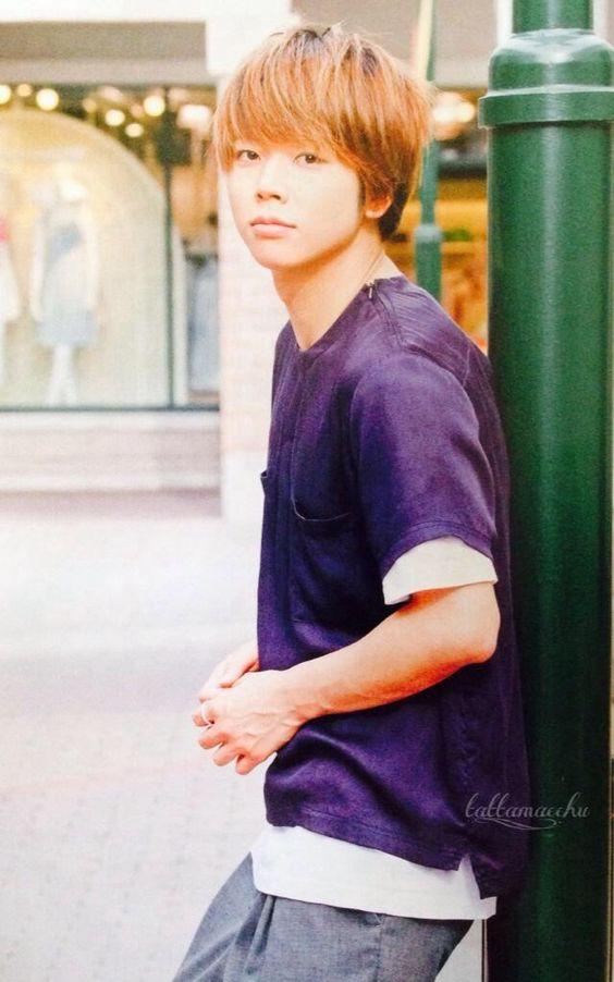 増田貴久のパープル重ね着