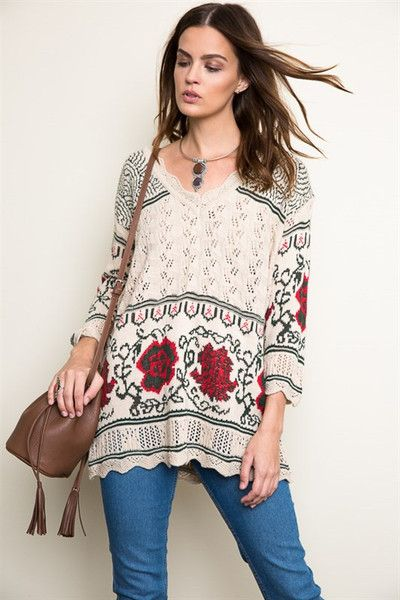 Festive Knit Sweater Runs True to Size Made in the USA