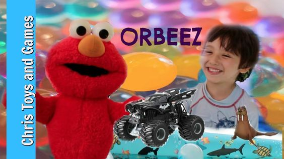 Fun and cute kids video with Elmo and Chris from Chris' Toys and Games at YouTube.  Elmo floats in Chris' pool and meets up with Paw Patrol toy Wally the Walrus and a Batman Monster Jam truck.  This video can be seen at: