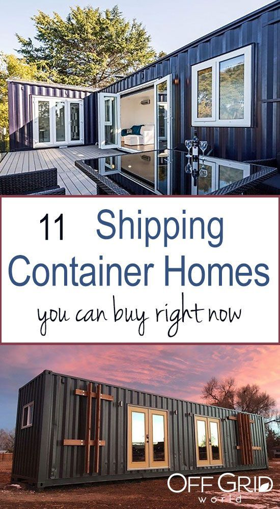 11 Shipping Container Homes You Can Buy Right Now Off Grid World Prefab Shipping Container Homes Container Homes Cost Shiping Container Homes