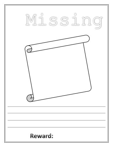 Lost Poster Template - Fiveoutsiders