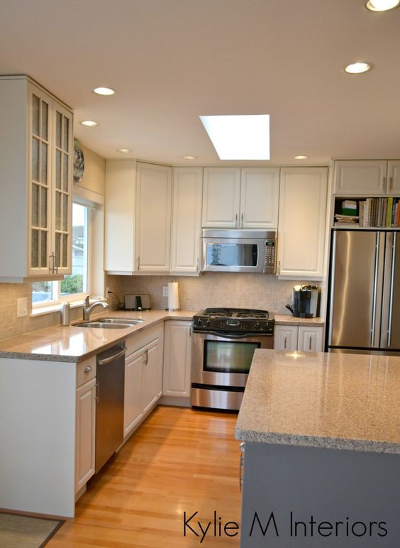 Painted Wood Kitchen Cabinets - Benjamin Moore White Dove and ...