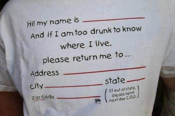Now we can drink and trust that we will be home in the next day!!! http://www.wheretogotonight.com/