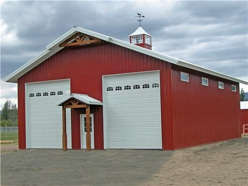 Shops doors and classic on pinterest for Pole barn garage with living quarters