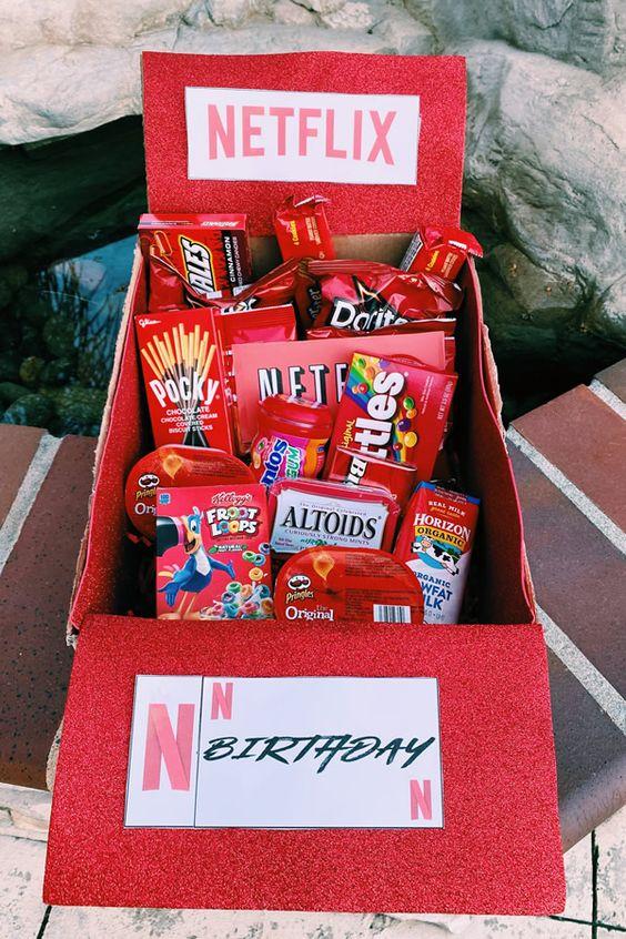 caja regalos sorpresa color rojo
