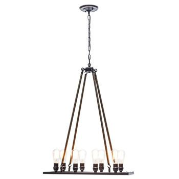 "Jillian 48"" 8 Light Chandelier by Globe Electric"