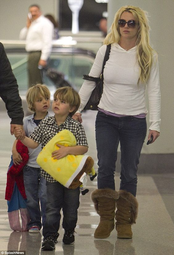 Planning a trip: Britney, seen here with sons Sean Preston and Jayden in 2011, will likely bring her boys with her to Las Vegas