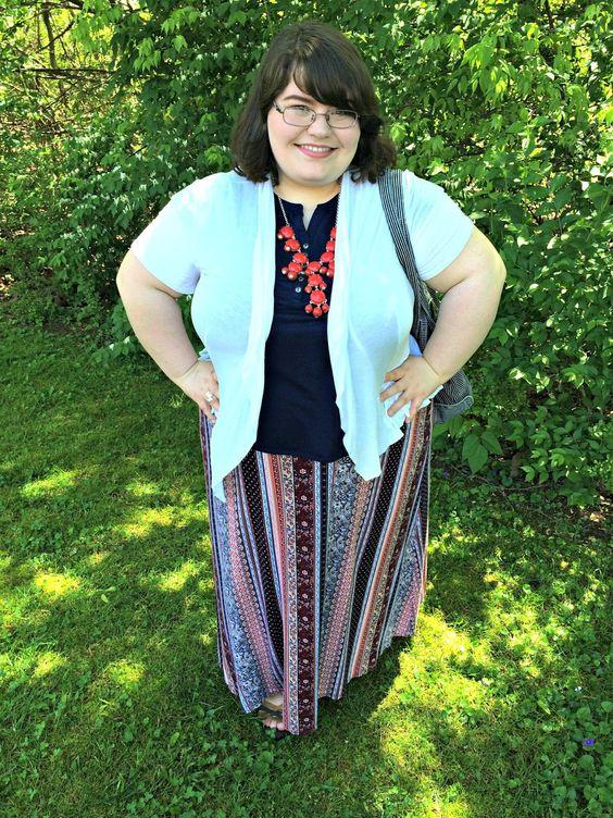 Unique Geek: Plus Size OOTD: Back At It #plussizefashion #plussizeootd #plussizestyle #plussizeoutfit #springoutfit #bohemian #maxiskirt:
