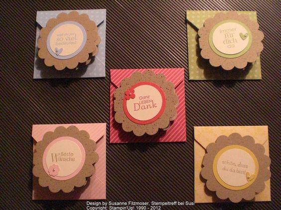 pinterest su minikarten | Mini Karten und Mini Briefumschläge