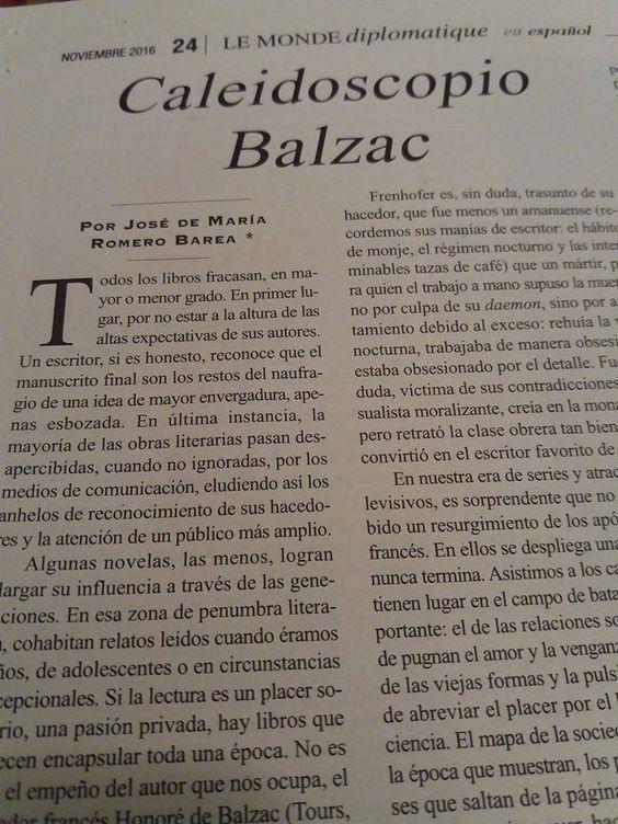#Tolerancia #recomiendo #CaleidoscopioBalzac @HERMIDAEDITORES #RomeroBarea para @MondeDiploEs @IRamonet @masleer