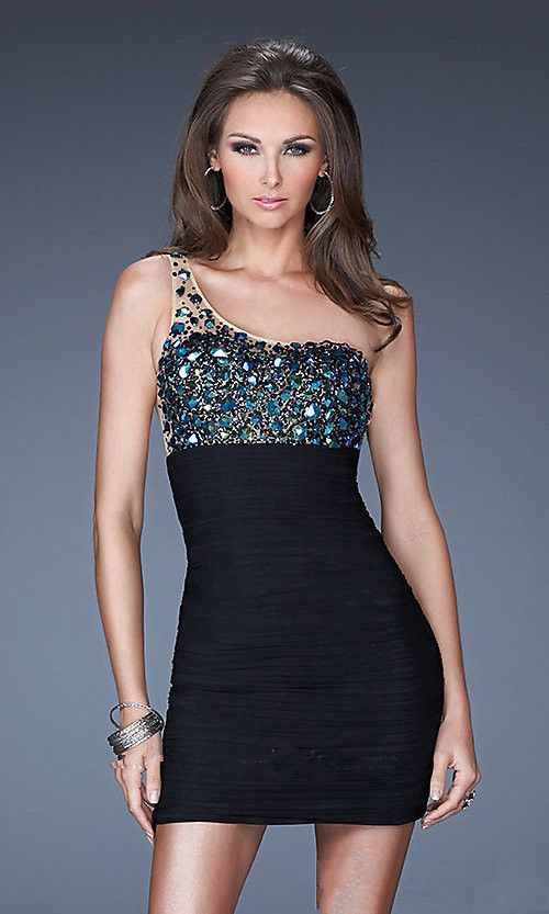 Bead Halter Short Tight Homecoming Dress Sherri Hill 32055 - Click ...