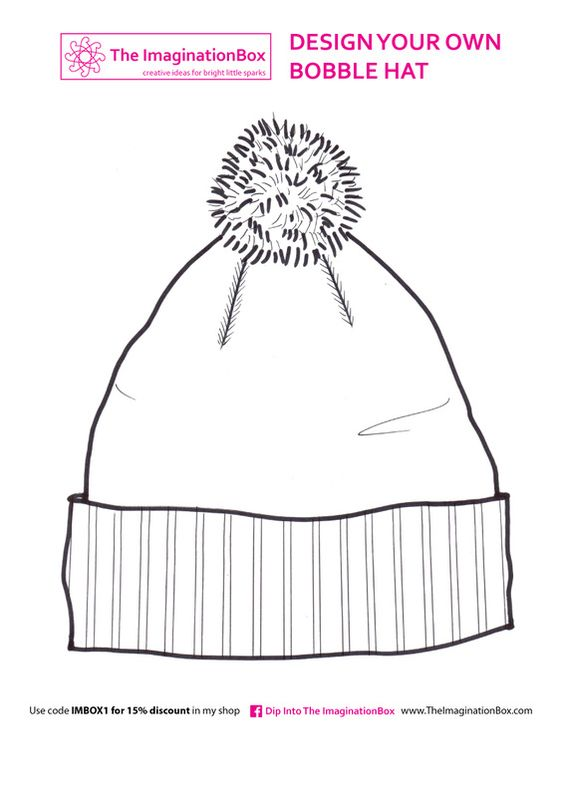 free winter hat coloring pages - photo#18