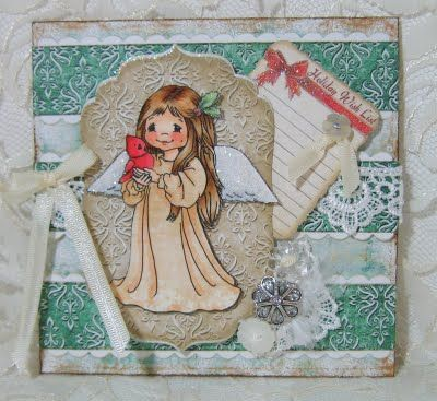 Crissy Armstrong 'Little Christmas Angel' card with removable tag