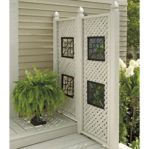 For roses bot with square lattice hot tub pinterest for Lattice panel privacy screen