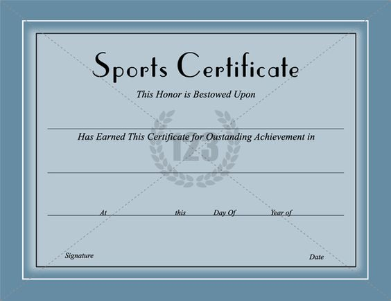 Sport Certificate Templates Pinterest The World S Catalog Of Ideas