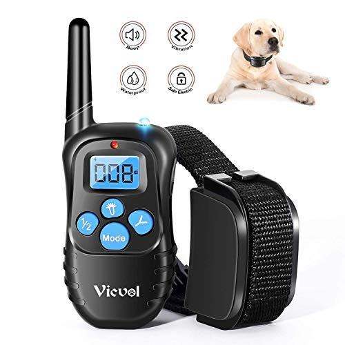 Dog Training Collar Rechargeable Rainproof 330 Yd Remote Dog