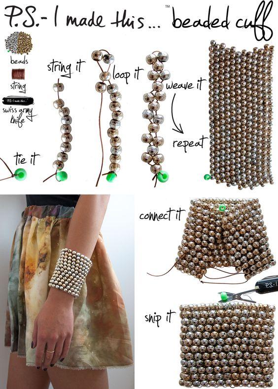 P.S.- I made this... Beaded Cuff Bracelet #DIY #PSIMADETHIS #JEWELRY #CUFF