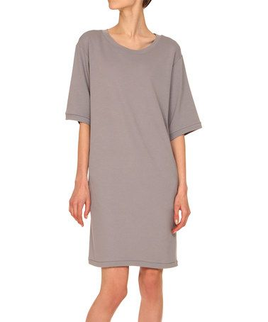 Love this Gray Shift Dress on #zulily! #zulilyfinds