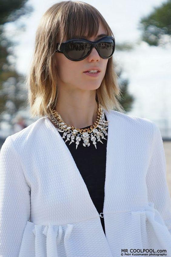 Moda de Rua e Inspirações: Preto e Branco - Streetstyle and Inspirations: Black and White