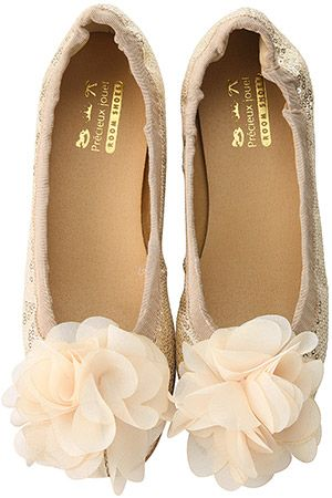 poofy pink champagne flowers on flats!