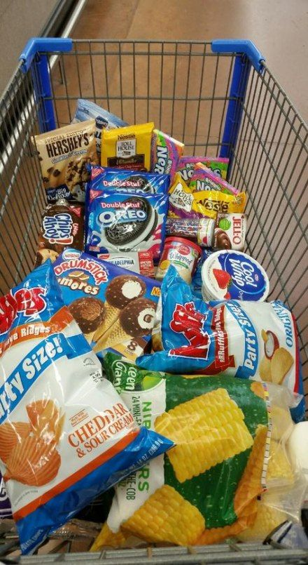 Junk Food in Shopping Cart
