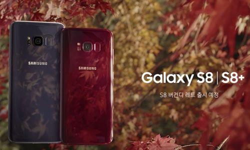 Burgonya Kırmızısı Galaxy S8'ler Tanıtıldı!