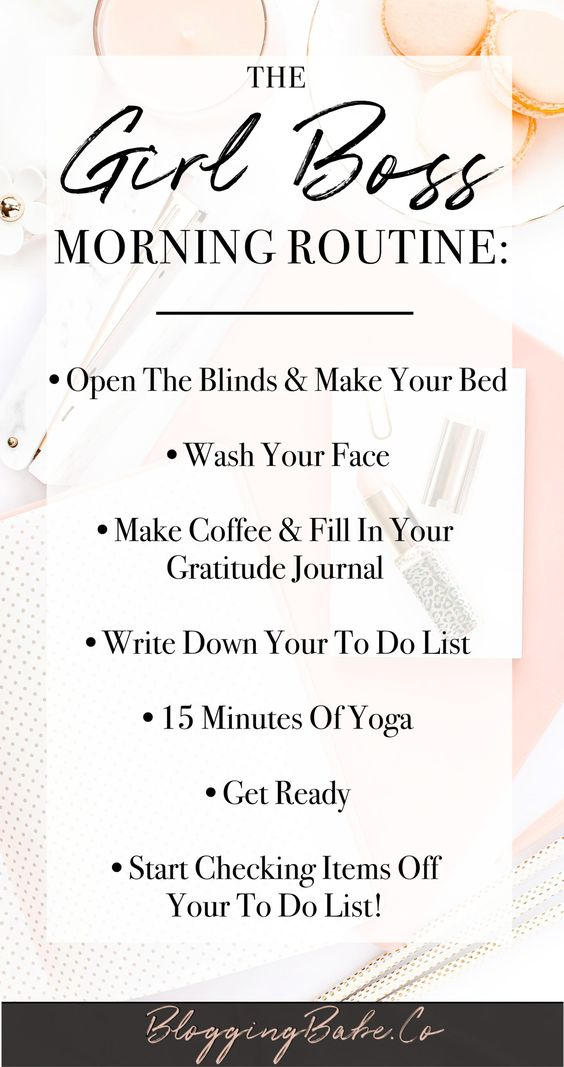 A #GIRLBOSS needs a special, productive morning routine to be able to run her day and get sh* done. This morning routine is perfect for every girl boss out there who want to start their day being as productive as possible. Start your day like a boss!