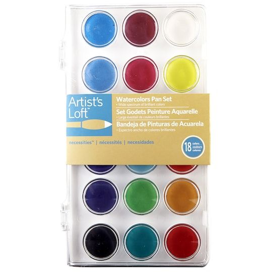 Artist S Loft Necessities Watercolor Pan Set Watercolor Pans