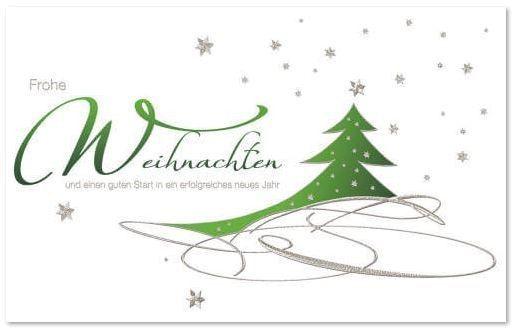 Business Swing Card Swing Mit Weihnachtsgrusse Und Grunem Baum Zu Gunsten Von Dkks