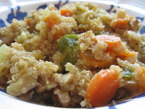 Quinoa with Walnuts and Rosemary