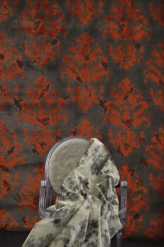This beautiful jacquard woven velvet is inspired by vintage style. Monticello embodies the neo-classic elements of Thomas Jefferson's manor home with a medallion pattern woven in the antiqued velvet pile.   www.cassaro.co