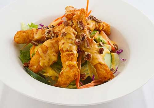 Fried Chicken Salad (Fried Buttermilk Chicken Tenders, Shredded ...