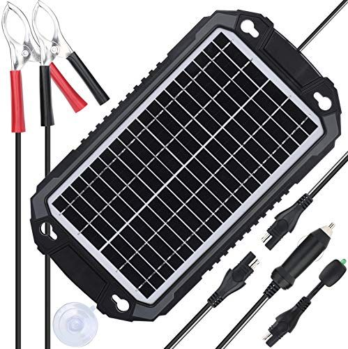 Suner Power 12v Solar Car Battery Charger Maintainer Waterproof 8w Solar Panel Trickle Charging Kit For A Car Battery Charger Solar Car Solar Panel Battery