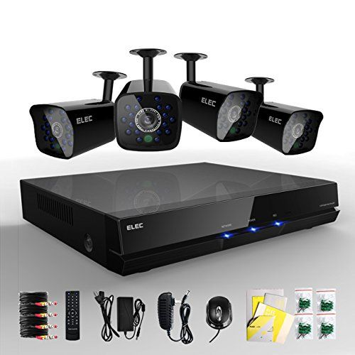 Elec New 4ch Channel Cctv Hdmi 960h H 264 Real Time Dvr 4 600tvl Night Vision Outdoor Cameras Security Surveillance Camera System 3g Mobile Live View No Har