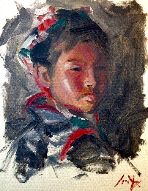 Tibetan girl child portrait -Sean dietrich