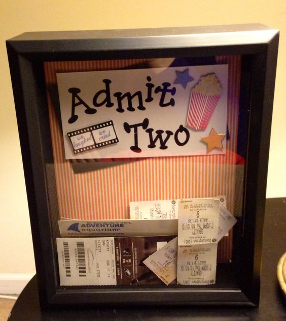 Ticket Shadow Boxes One Year Anniversary And Shadow Box