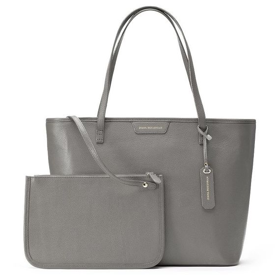 Dana Buchman Parker Leather Tote & Pouch, Women's,