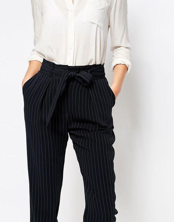 Image 3 - Oasis - Pantalon carotte à rayures