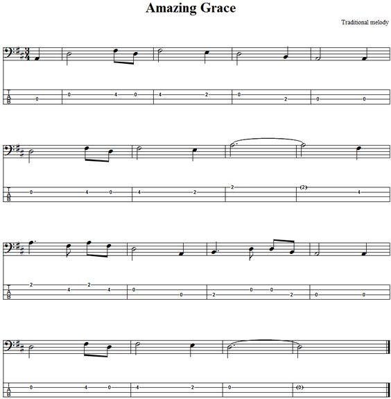 Guitar amazing grace guitar tabs : Amazing grace, Bass and Bass guitars on Pinterest