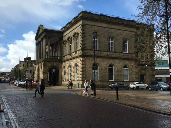 Accrington Town Hall from an angle