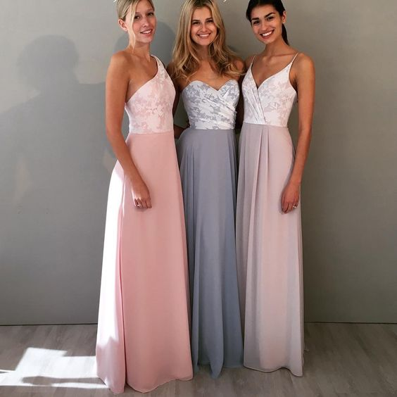 These bridesmaid dresses are so elegant and pretty!:
