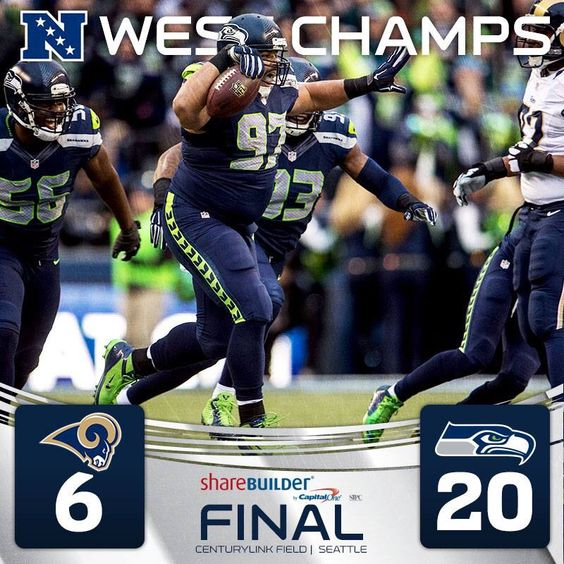 The #SeattleSeahawks repeat as Division NFC champions and clinched the top seed in the NFC. #NFCWestChamps #STLvsSEA