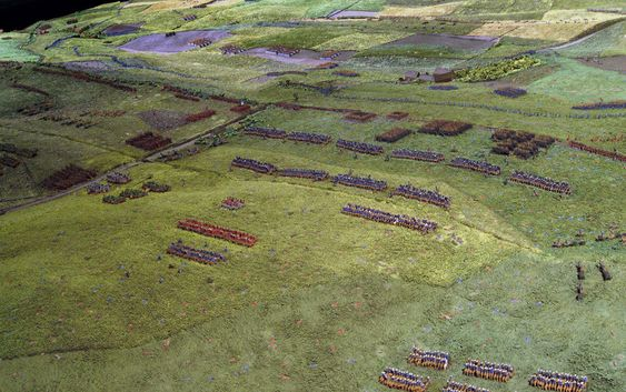 Model Of The Field Of Waterloo Made By Captain William Siborne 1838 Online Collection National Army Museum London Battle Of Waterloo Waterloo Diorama