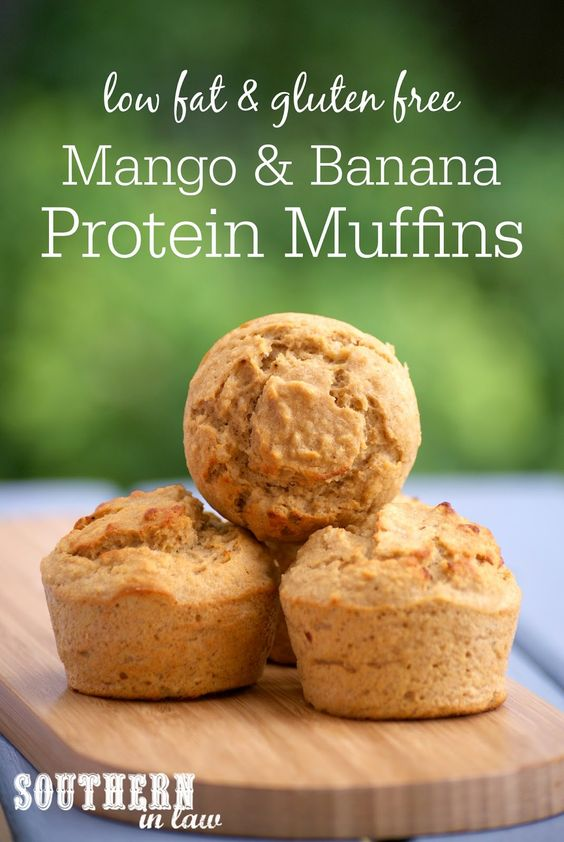 Mango and Banana Muffins contain around 7 grams of protein per muffin ...