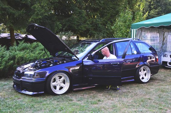 BMW e36 touring on cult classic OZ AC Schnitzer type 1 wheels