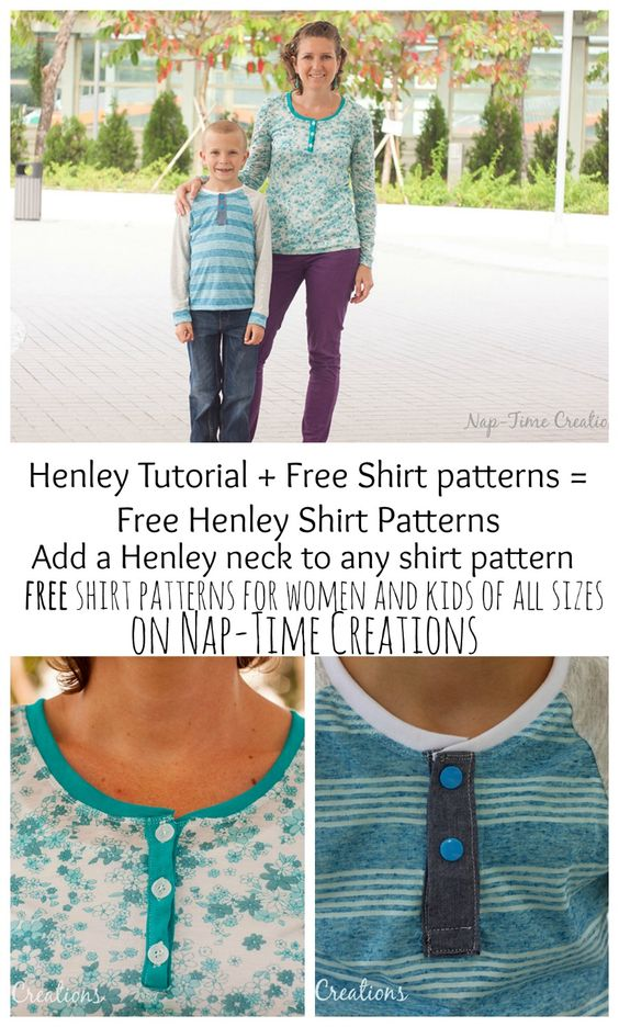 Henley Shirt Placket Tutorial And Free Shirt Patterns