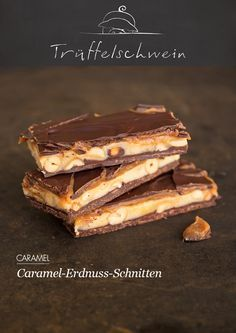 Snickers selber machen! Caramel-Erdnuss-Schnitten