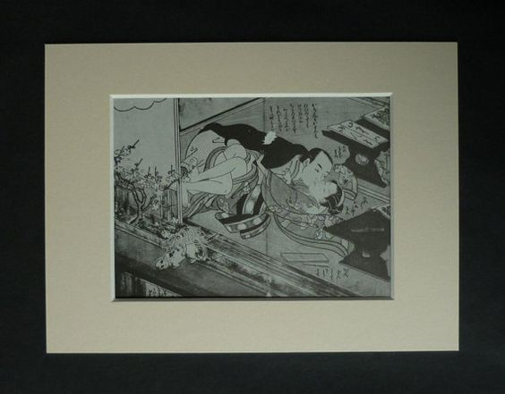 Mature Suzuki Harunobu Erotic Print, Asian Sex Decor, Available Framed, Sexy…
