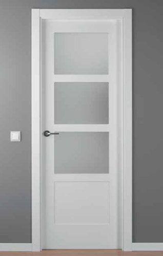 Puerta lacada blanca mod lac 5104 3v obra pinterest - Puertas de interior blancas precios ...