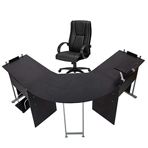 71 L Shaped Computer Desk Modern Wood Corner Gaming Table Pc Laptop Office Desk Writing Working Worksta Gaming Desk Shape Games Office Computer Desk